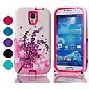 Hot Selling Peach Blossom Pattern Tough Armor PC and TPU Mobile Phone Case for Samsung Galaxy S4/I9500 (Assorted Colors)