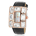 Women's Luxury Big Diamond Dial Leather Band Quartz Wrist Watch(Assorted Colors)