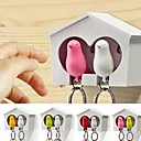 Couples Nests and ABS Bird Keychain with Whistle(Assorted Colours)