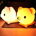 os pequenos forma de urso abs luz conduzida da noite (cores sortidas)