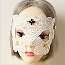 Buy Mask Cosplay Festival/Holiday Halloween Costumes White Solid / Lace Carnival Female