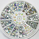 Mixed Size Glitter AB Acrylic Rhinestones  Nail Art Decorations