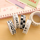 Black And White Decorative Scrapbooking Adhesives Tape(10m Random Color 1 PCS)