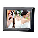 8-inch Digital Photo Frame with Remote Control Music Video (White and Black)