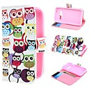 Multiple Owls Wallet PU Leather Case Cover with Stand and Card Slot for Samsung Galaxy Ace 4 G313H