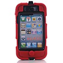 Waterproof Tough Defender Series Rugged Impact Full Body Case with Detachable Clip for iPhone 4/4S(Assorted Colors)