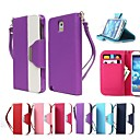 Leather Wallet Case Flip Leather Stand Cover with Card Holder for Samsung Galaxy Note 3 (Assorted Colors)