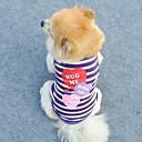 Lovely Three Heart Strip Pattern T-Shirt Vest for Pets Dogs  (Assorted Colors,  Sizes)