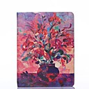 Flower Bottle Oil Painting Style PU Leather Full Body Case with Stand and Card Slot for iPad 2/3/4