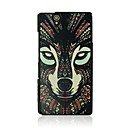 The wolf Leather Vein Pattern Hard Case for Sony Xperia Z/L36h