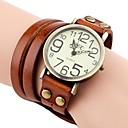 Women's Vintage Style Long Strap Leather Band Quartz Analog Bracelet Watch (Assorted Colors)