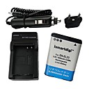 Ismartdigi-Nik EN-EL23(1850mAh,3.8V)Camera Battery+EU Plug+Car Charger For NIKON COOLPIX P600