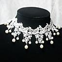 collar blanco hecho a mano elegante lolita dulce