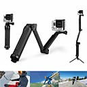 Super multi-funktion 3-vejs mount monopod stativ greb for GoPro hero4 / hero3 + / 3 / sj 5000/4000