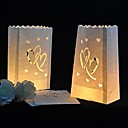 heart cut-out pappers luminary papperslampa (uppsättningen av 4)