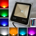 50 W 1 High Power LED 4500 LM RGB Remote-Controlled Flood Lights AC 85-265 V