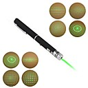 lt-012 forma di penna a 5 modelli di puntatore laser luce verde (3mw.532nm.2xaaa.black)
