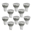 10 pcs GU10 4W 4 High Power LED 360-400 LM Warm White / Cool White / Natural White LED Spotlight AC 85-265 V