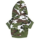 Dog Hoodies - XL / XXL / XXXL - Spring/Fall - Green Cotton
