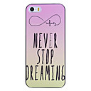 Zomgo®  Beautifully Letters Designed  Pattern PC Back Cover  for iPhone 5/5S