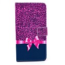 Leopard Bow Pattern PU Leather Case with Stand Card Holder for Samsung Galaxy Note 4
