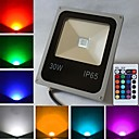 30W 1 High Power LED 2400 LM RGB Remote-Controlled LED Flood Lights AC 85-265 V
