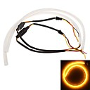 Buy 2*60cm LED Car Daytime Running Light Strip Tube Style DRL Driving Lamp White+Yellow 12V
