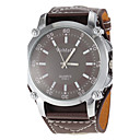 Buy Unisex Brown Dial Wide PU Band Quartz Wrist Watch Cool Unique