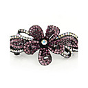 Fashion Rhinestone Flower Hair Barrette Random Color
