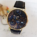 Buy Women's Fashion Style Gold Dial Leather Band Quartz Analog Wrist Watch Cool Watches Unique