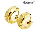 Men's Titanium Steel Golden Arenaceous Earring