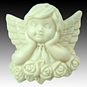 Thinking Angel Rose Flower Shaped Fondant Cake Chocolate Silicone Mold Cake Decoration Tools,L7.4cm*W7.2cm*H3.7cm