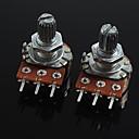3-pin potenciómetro de control de volumen b20k para guitarra / bajo (2 piezas)