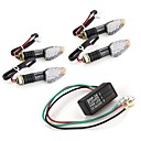 Buy 10 LED Amber Motorcycle Turn Signal Indicator Light Blinker + Flasher Relay