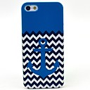 The Blue Wave Anchor Pattern Hard Cover Case for iPhone 5C