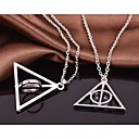 harry potter de Luna Lovegood résurrection pierre collier rotatif alliage film pendentif (1 pc)