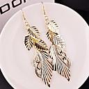 Fashion Multilevel Leaf Shape Alloy Drop Earrings(Golden,Silver)(1 Pair)