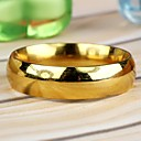 Men's Simple Stainless Steel Ring Gold  (1Pc)