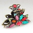 Fashion Rhinestone Colorful Flower Hair Claws Random Color