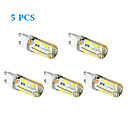 5 pcs G9 3 W 48 SMD 2835 250 LM Warm White/Cool White Corn Bulbs AC 100-240 V