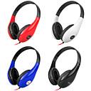 Stereo musikk 3.5mm On-Ear Headphone DM-4700 (svart, rød, hvit, blå)