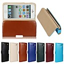 Buy Genuine Belt Clip Pouch Crazy Horse Leather Phone Case Cover iPhone 5/5S(Assorted Colors)