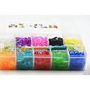 Rainbow DIY Rubber Band Woven Plastic Box (3000 PCS)