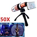 Apexel Telescope 50X Zoom Telephoto Manual Focus Long Focal Camera Lens for iPhone 5/5S with Back Cover and Tripod