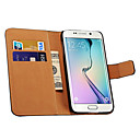 Genuine Leather Wallet Style Case for Samsung Galaxy S6 (Assorted Color)