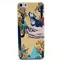 Beautiful Tree Cat Pattern Hard Cover Case for iPhone 5C