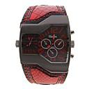 Popular Men's Square Dial  Leather Band Quartz Analog Wrist Watch