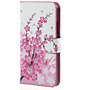 Plum Blossom PU Leather Cover Case with Stand and Card Slots for Microsoft Lumia 640