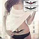 Sexy Angel Wings Goddess Wand Tattoo Stickers Temporary Tattoos(1 Pc)