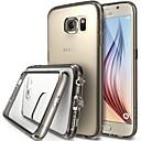 ginásio de luxo claro tpu cristal moldura de acrílico caso de volta para Samsung Galaxy S6 borda g9250 (cores sortidas)